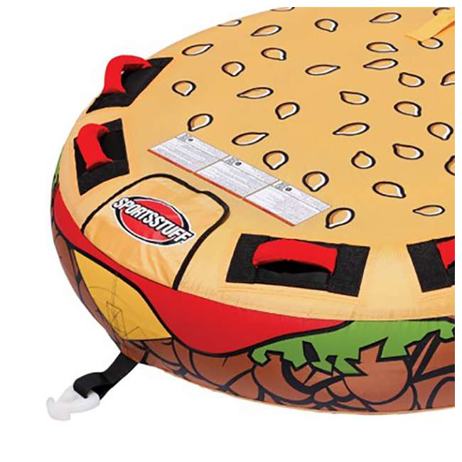 3 x 53-3050 Sportsstuff Inflatable 2 Rider Cheeseburger Towable Tube (3 Pack) 4