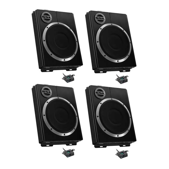 4 x LOPRO8 Soundstorm LOPRO8 8-Inch 600W UnderSeat Powered Subwoofer (4 Pack)