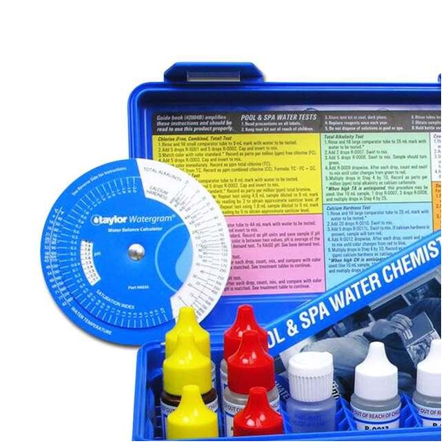 K2005 Taylor Swimming Pool Chlorine Bromine Alkalinity Hardness pH DP Test Kit (2) 6