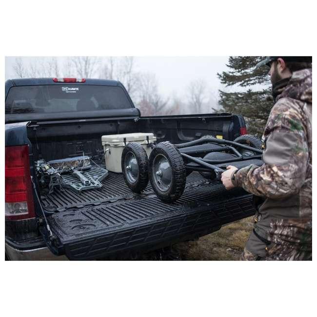 HWK-HA3420 Hawk Crawler 500 Pound Capacity Foldable Multi Use Game Recovery Cart, Black 4