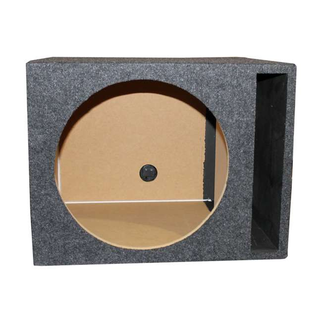 "QSBASS15-VENTED NEW Q-Power 15"" Single Empty Vented Ported Car Audio Subwoofer Sub Box Enclosure 1"