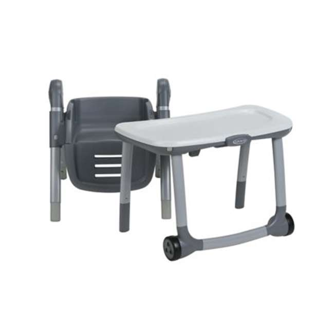 2022439 Graco 2022439 Table2Table Preimier Fold 7 in 1 Adjustable Highchair, Landry Gray 9