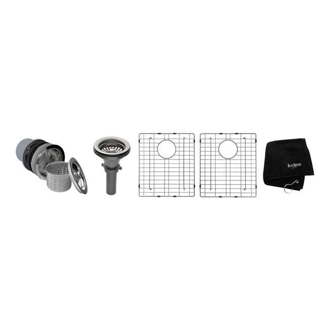 KHU102-33 Kraus 33-Inch Undermount Double Stainless Steel Kitchen Sink (2 Pack) 5