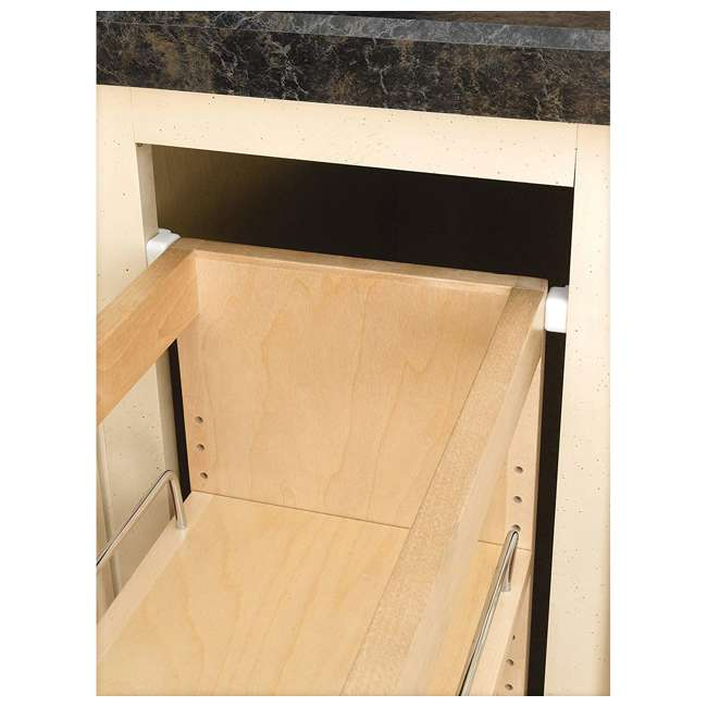448-BC-5C-U-A Rev A Shelf 5 Inch Pull Out Wood Base Cabinet Organizer, Maple(Open Box)(2 Pack) 3