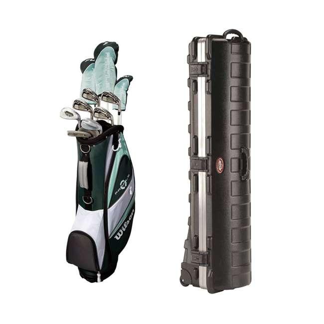 WGGC43800 + 2SKB-1649W Wilson Profile XLS Women's Golf Club Set & Travel Case