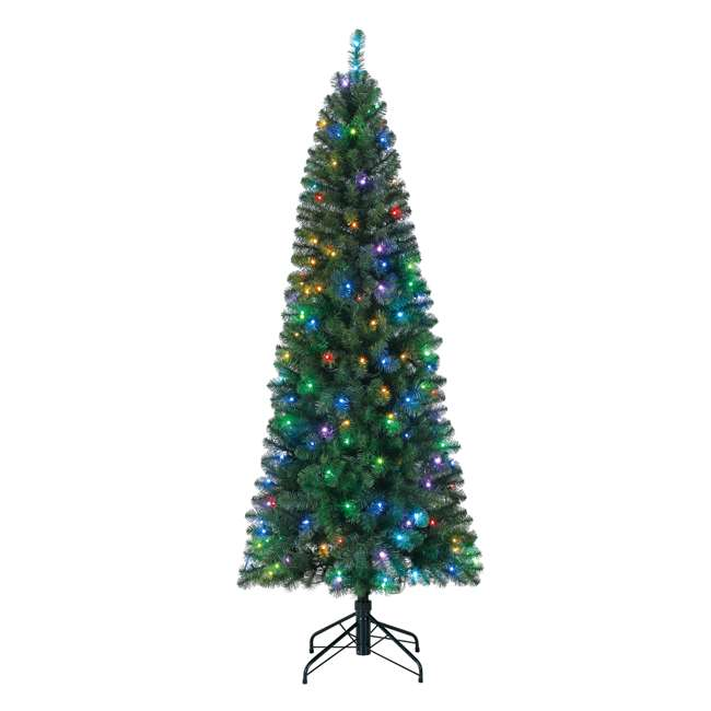 TG70CH119P00 Home Heritage 7' Color Blast Multiple Light Function Micro Dot LED Christmas Tree 4