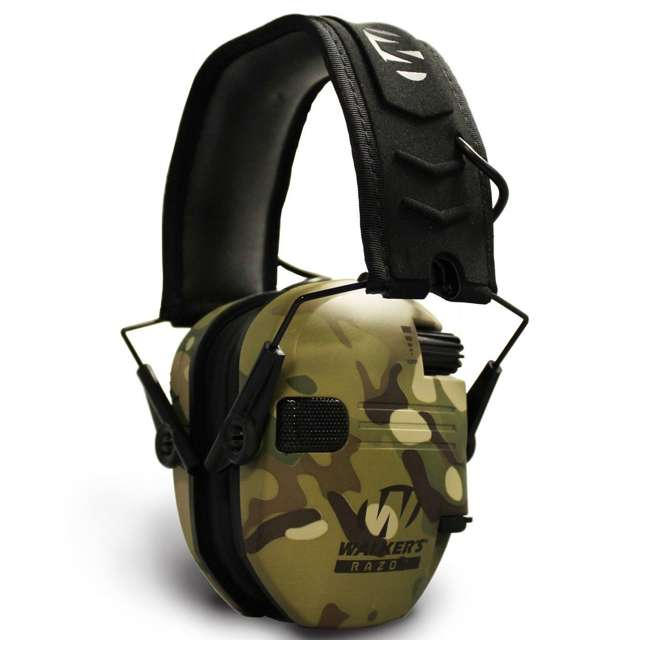 GWP-RSEM-MCC + GWP-REMSC Walkers Razor Slim Electronic Ear Muffs (Multicam Camo Tan) & Carrying Case 2