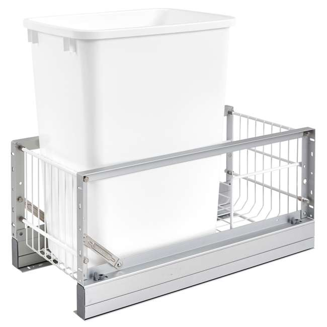5349-15DM-1 Rev-A-Shelf 5349-15DM-1 35 Quart Pull Out Cabinet Waste Container Trash Can