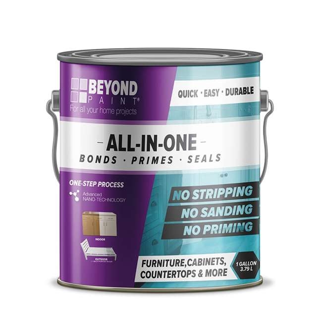 BP18 Beyond Paint 1 Gallon All-in-1 Multi Use Versatile Refinishing Paint, Off White 1