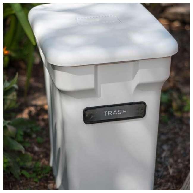CK-6GL-BIN-WH-S CompoKeeper Kitchen 6 Gallon Compost Organic Waste Kitchen Bin Trash Can, White 4