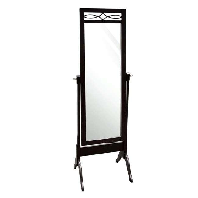 SC-MI12156 Abode 84 Full Length Wood Cheval Dressing Mirror, Mahogany