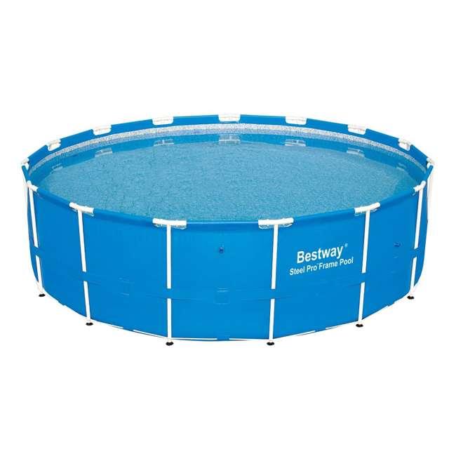12752-BW + 58388E-BW Bestway 15 x 4 Ft Above Ground Pool w/Cartridge Filter Pump 1