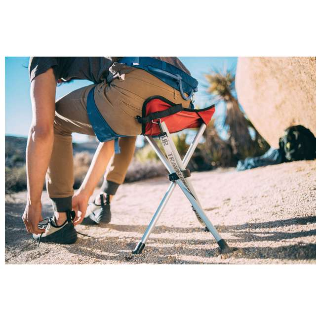1389VG TravelChair Backless Slacker Portable Outdoor Folding Stool Seat Tripod, Green 2