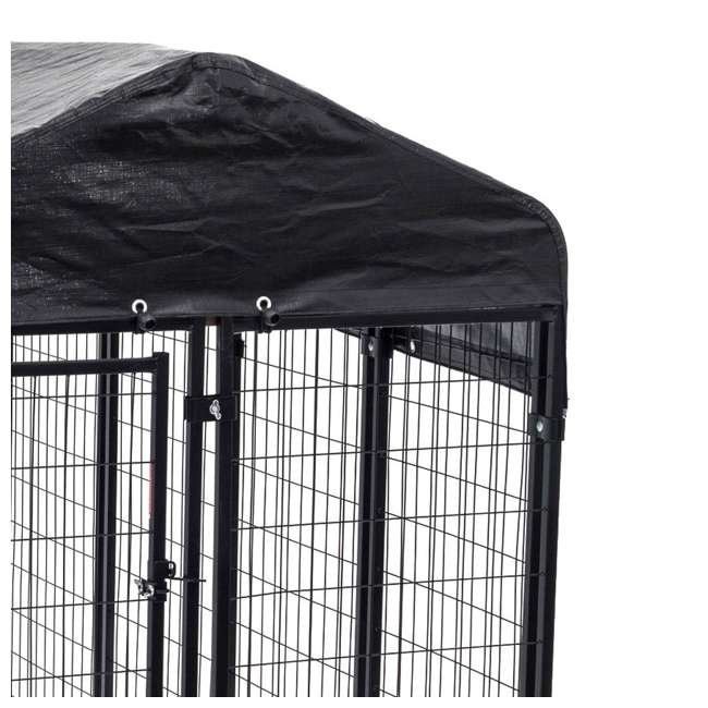 CL-60548-U-A Lucky Dog Uptown Large Welded Kennel Heavy Duty Dog Cage (Open Box) (2 Pack) 1