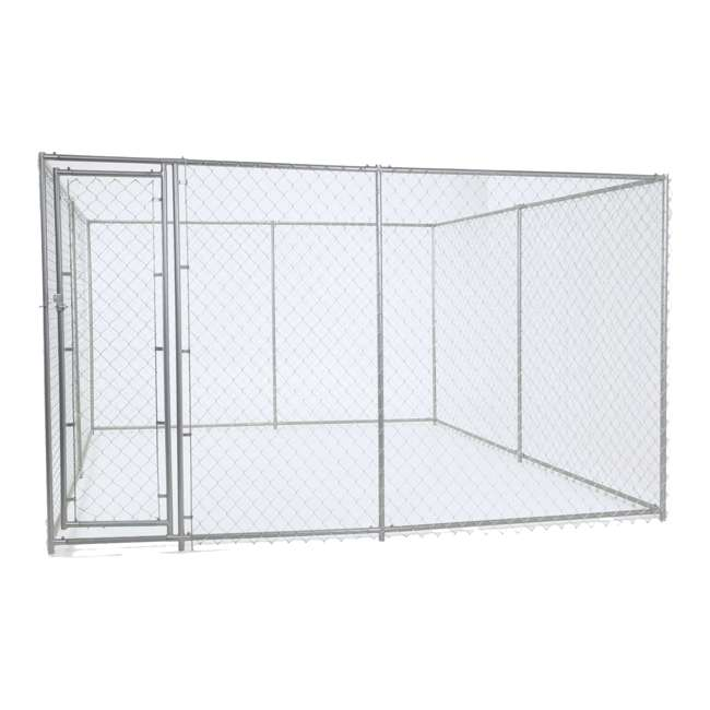 CL-61528EZ + CL-00303 Lucky Dog 10 x 10' Outdoor Dog Kennel & Waterproof Roof Cover 1