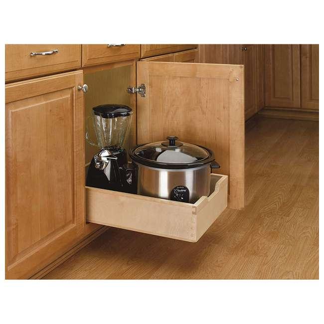 4WDB-15 Rev-A-Shelf 4WDB-15 14 Inch Wood Pull Out Organization Drawer, Maple (2 Pack) 2