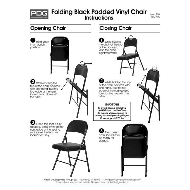 TGT8104PK Plastic Development Group Indoor Metal Padded Folding Party Chair (4 Pack) 6