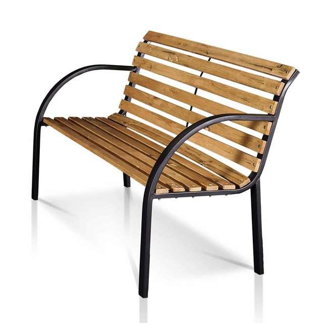 IDF-OB1805 Furniture of America IDF-OB1805 Dumas Weather Resistant Outdoor Patio Bench 1