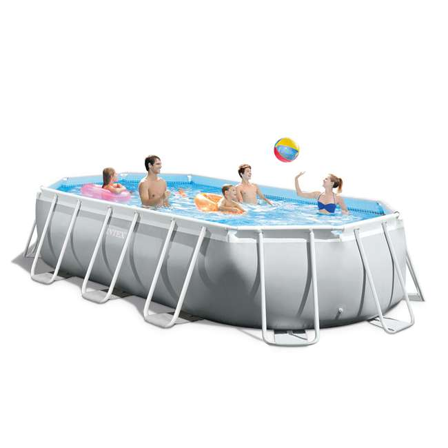 26795EH + 6 x 29000E Intex 16.5 Foot Rectangular Pool Set w/ Filter (6 Pack) 8