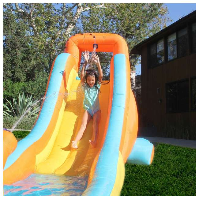 INF-2081 Sportspower My First Inflatable Water Slide with Water Cannon and Splash Pool  1