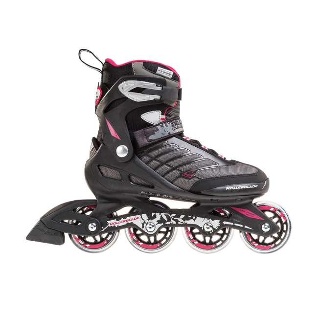 077369009V1-8 Rollerblade Zetrablade Womens W Adult Fitness Inline Skate Size 8, Black/Cherry 1