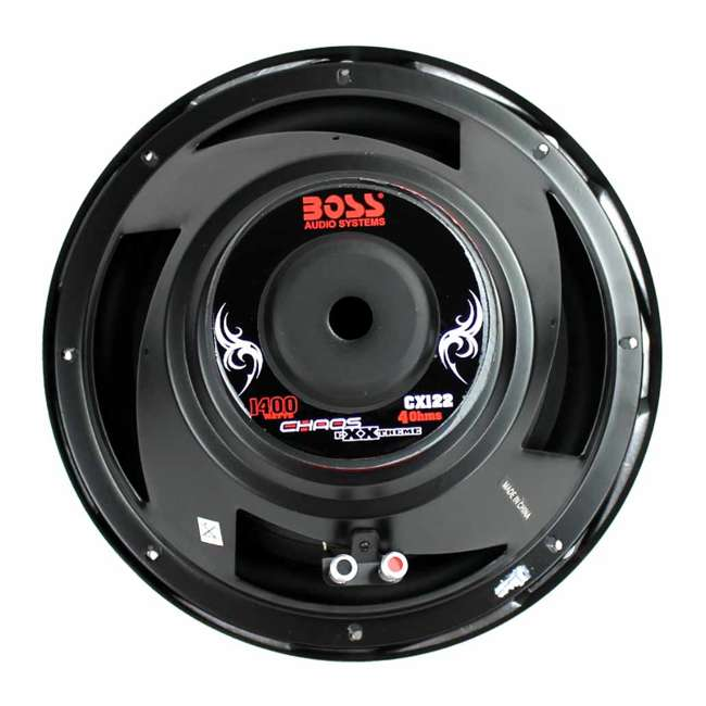 CX122 Boss Audio Chaos 12 Inch 1400 Watt 4 Ohm Car Audio Power Subwoofer 4