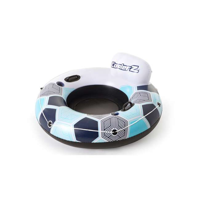 24 x 15496-BW-U-A Bestway CoolerZ Rapid Rider Inflatable Pool River Tube, Blue (Open Box)(24 Pack)