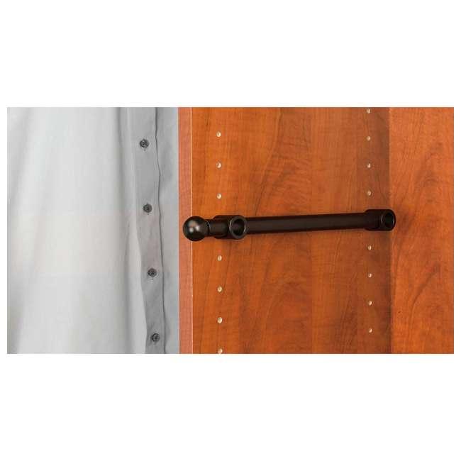 CVR-14-ORB Rev-A-Shelf 14 Inch Oil Rubbed Valet Rod Designer Series for Closet (2 Pack) 4