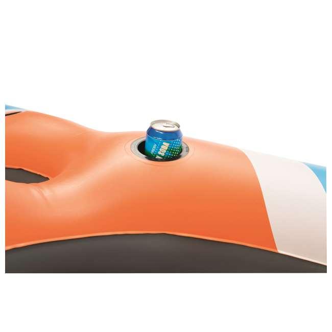 6 x 43115E-BW-U-B Bestway Rapid Rider 4-Person Floating Island Raft w/ Coolers (Used) (6 Pack) 4