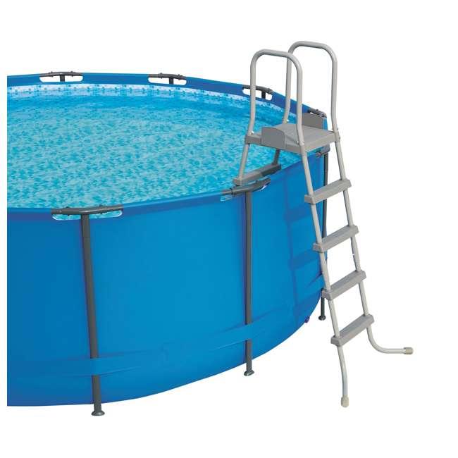 56392E-BW + 58422E-BW Bestway Power 22 x 4.3 Foot Swimming Pool w/ Pump & Filter & Bestway Pool Vacuum 6