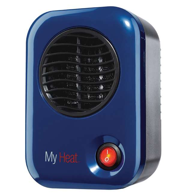 LKO-102-TN Lasko 106 MyHeat Portable Personal Electric 200W Ceramic Space Heater, Blue