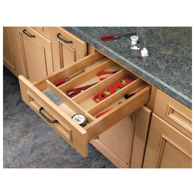 4WUT-1SH Rev-A-Shelf 4WUT-1SH Kitchen Drawer Shallow Wood Utility Tray Insert, Natural 1