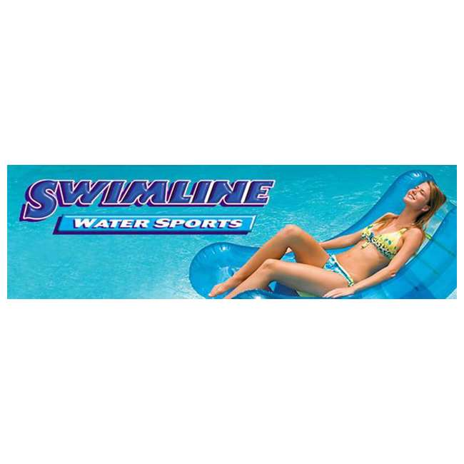 90628 Swimline Giant Inflatable Ride-On 75-In. Black Swan Pool Float(Open Box)(2 Pack)