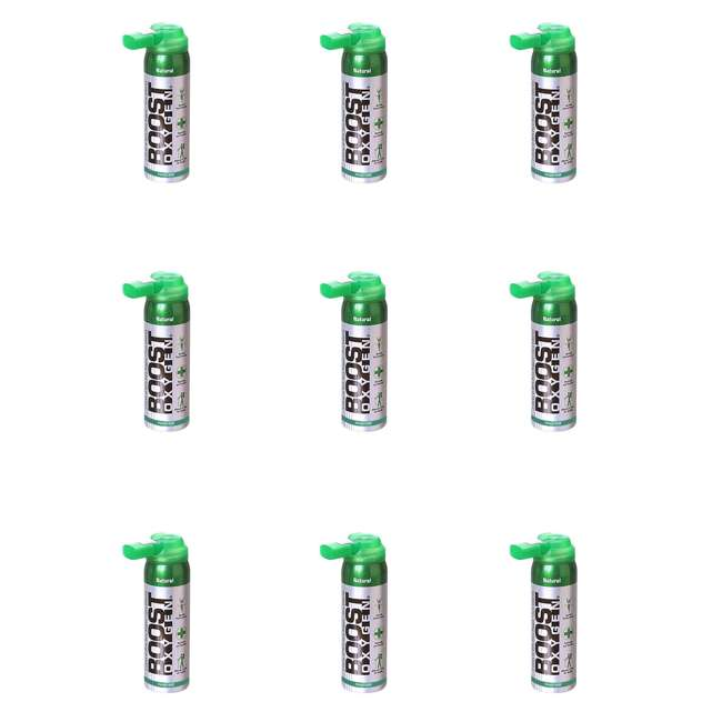 9 x 401-BOOST Boost Oxygen Canned 2-Liter Natural Inhaler Canister Bottle, Flavorless (9 Pack)
