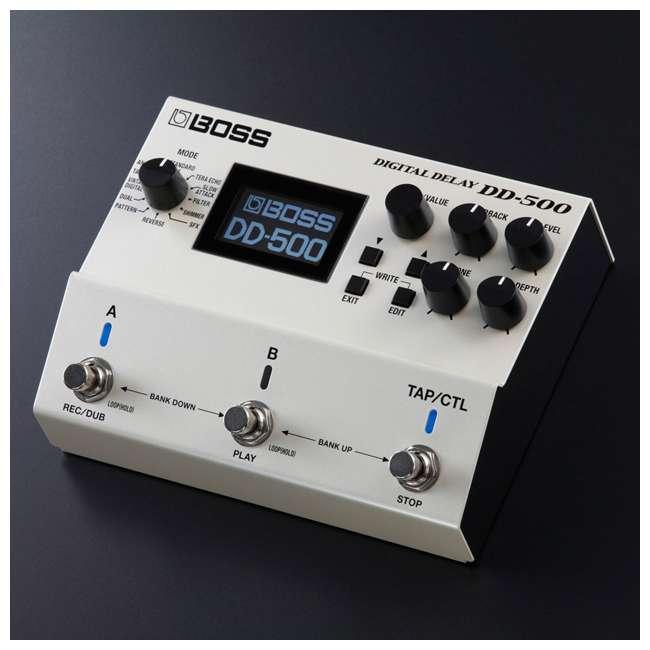 DD-500-OB Boss DD-500 Digital Delay Effects Guitar and Bass Pedal (Used) 3