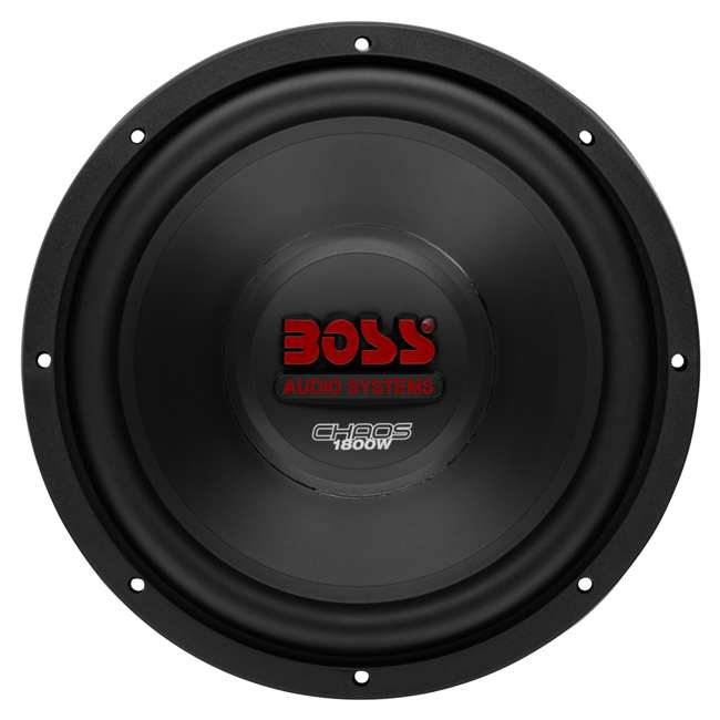 CH12DVC + VM12SEALED + AR16002 +AKS8 Boss CH12DVC 12-Inch 3600W Subwoofers with Sealed Box Enclosure with Amp with Amp Kit (Pair) 1