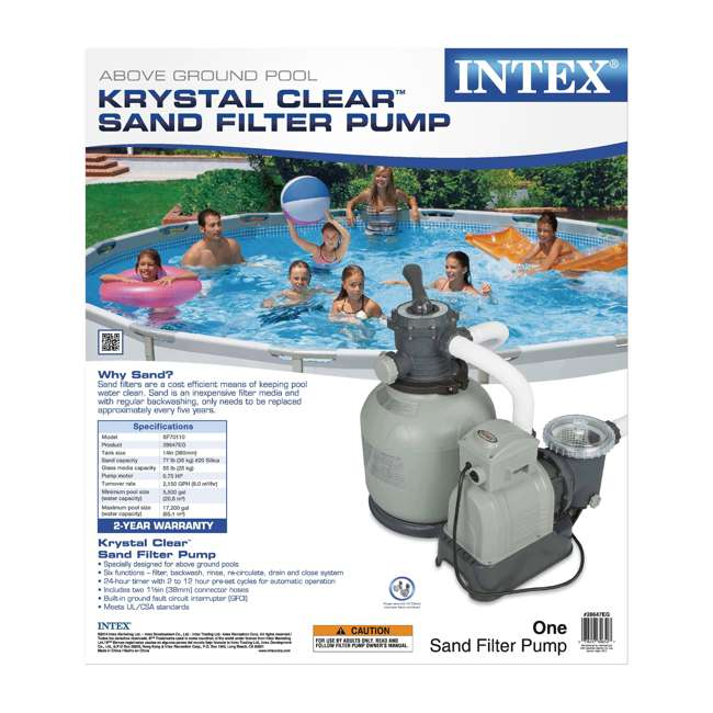 28647EG Intex 2800 GPH Above Ground Pool Sand Filter Pump 7