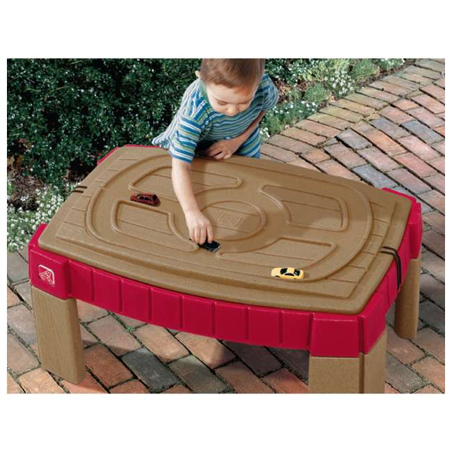 759499 Step2 Outdoor Kids Naturally Playful Raised Lidded Sand Table with Accessory Kit 2