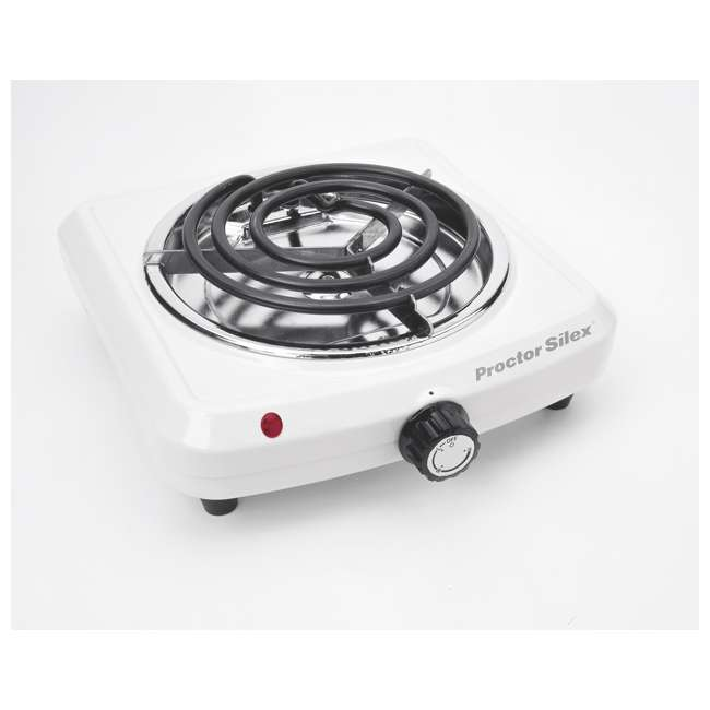 34101P Proctor Silex 34101P Plug in Fifth Burner Elecetric Hot Plate, White | 2 Pack 4