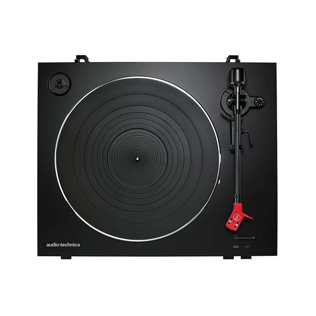 AT-LP3BK-OB Audio Technica LP3BK Automatic Belt-Drive Stereo Turntable Record Player 4