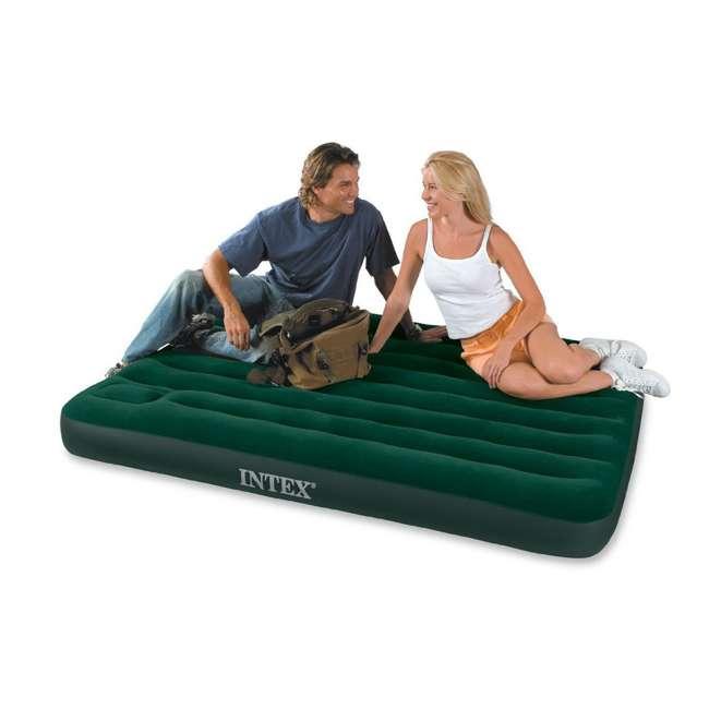 66929E-U-A Intex Queen Downy Air Bed Camping Mattress w/ Pump 66929E (Open Box) (2 Pack)