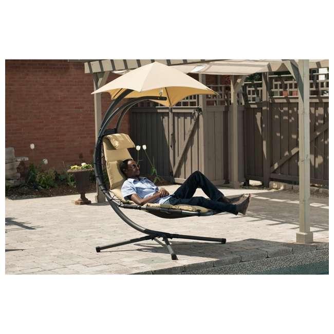 DREAM-SD Vivere The Original Dream Lounger Steel Backyard Patio Deck Chair, Sand Dune 3