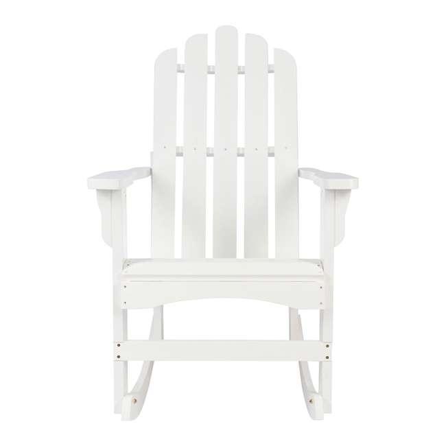 4698WT Shine Company Weather Resistant Cedar Wood Marina Porch Rocking Chair, White