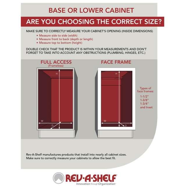 LD-2942-28-11-1 Rev-A-Shelf LD-2942-28-11-1 28 Inch White Polymer Pie Cut 2 Shelf Lazy Susan 5