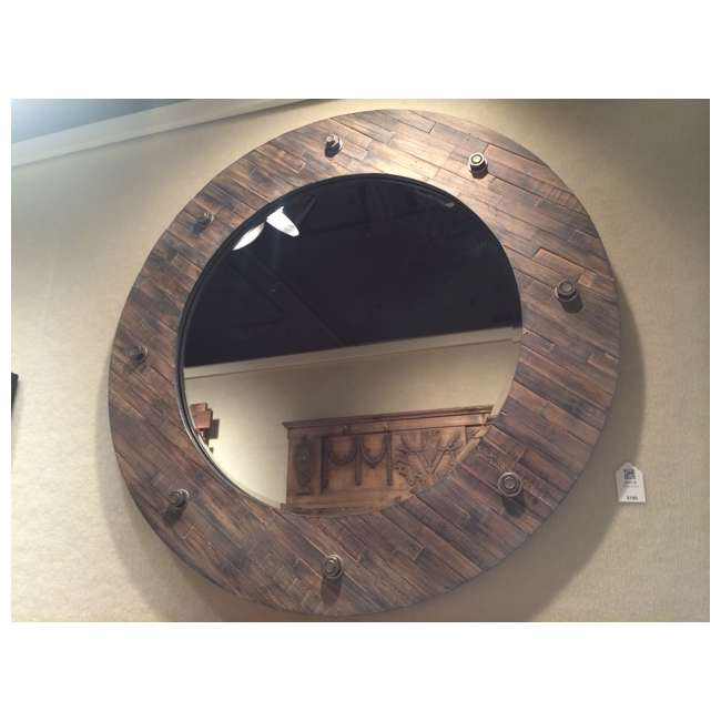 2637-B Majestic 32-Inch Rustic Wood Framed Accent Mirror 1