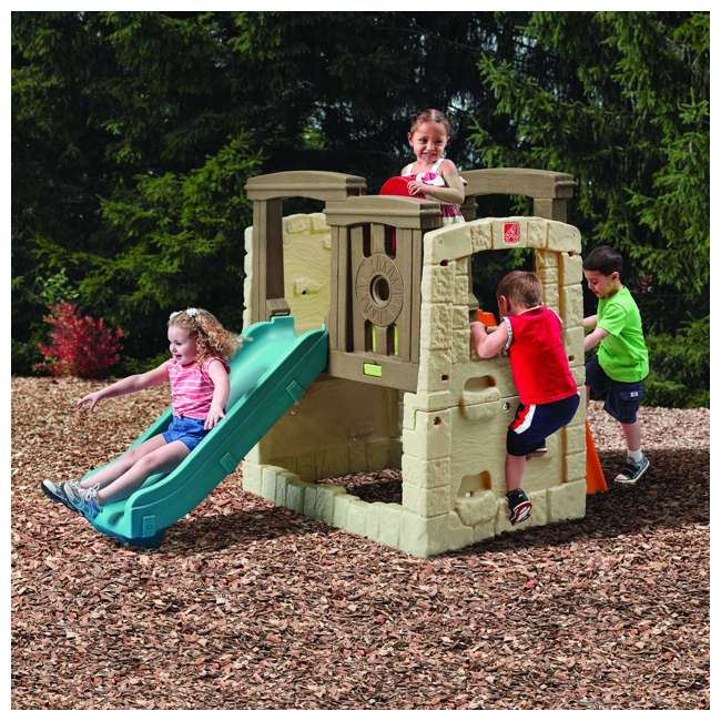 4902KR Step2 Naturally Playful Woodland Climber II Outdoor Activity Center with Slide 1