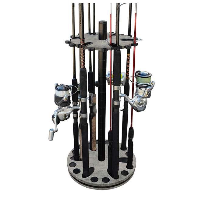 38-3031 Rush Creek Creations 38-4053 Round 16 Fishing Rod Storage Rack Organization