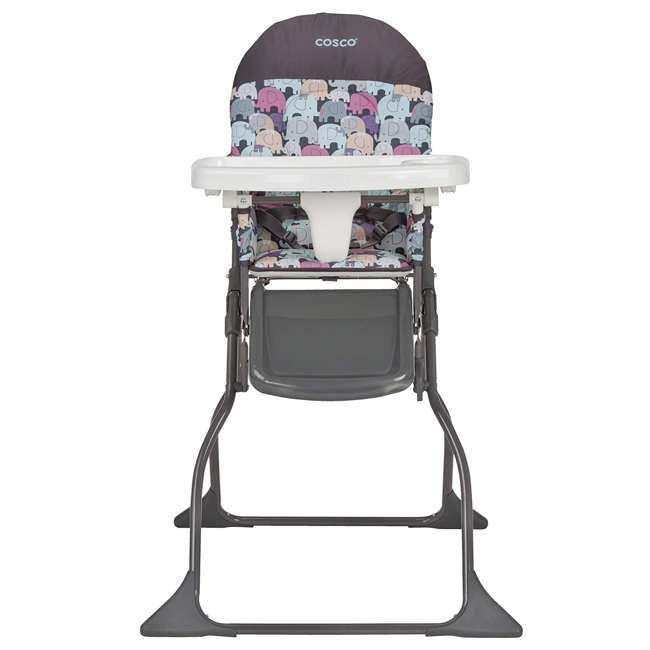 HC225EDR Cosco Simple Fold Full Size High Chair with Adjustable Tray, Elephant Puzzle  1