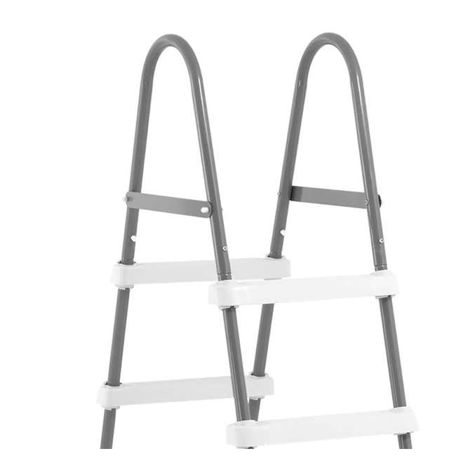 I28066 Intex Above Ground Pool Ladder for 48 Inch Wall Height Pool (Brown Box) 2