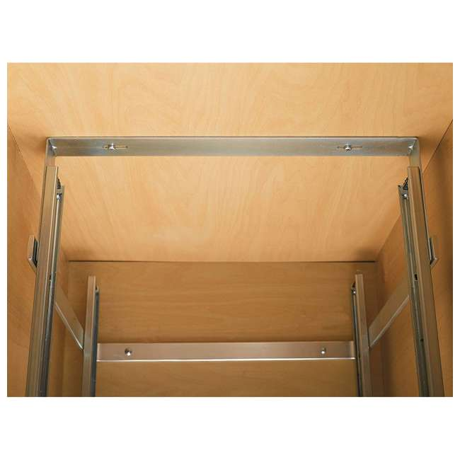 3 x 5WB2-2122-CR Rev-A-Shelf 5WB 2 Tier 21 Inch Wire Basket Pull Out Cabinet Organizer (3 Pack) 5